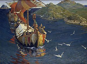 The Viking Age was a period in European history (succeeding the Germanic Iron Age), especially Northern European and Scandinavian history, spanning the late 8th to late 11th centuries. Scandinavian (Norse) Vikings explored Europe by its oceans and rivers through trade and warfare. The Vikings also reached Iceland, Greenland, Newfoundland, and Anatolia. Additionally, there is evidence to support the Vinland legend that Vikings reached farther west to the North American continent.