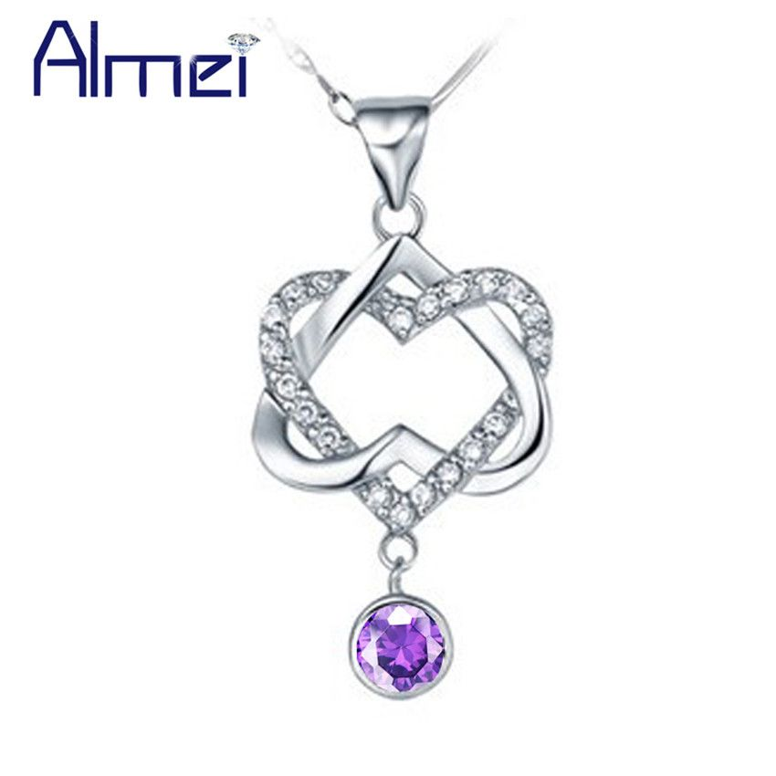 Find More Pendants Information about Almei 35% off Crystal Pendulum,Double Heart Necklaces & Pendants Charms for Wedding Women Girls Bijoux Silver Jewellery N576,High Quality accessories ps3,China accessories football Suppliers, Cheap accessories audio from ULove Fashion Jewelry Store on Aliexpress.com