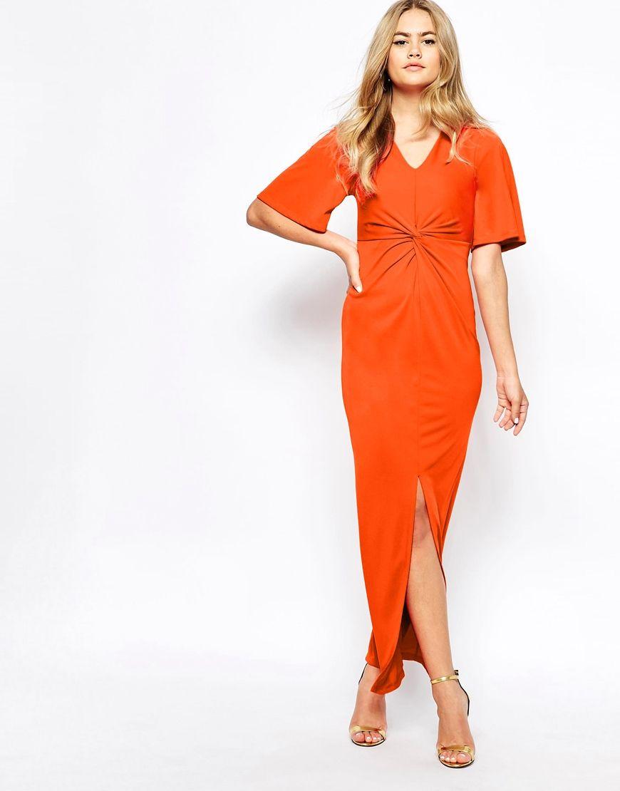 River Island Kimono Sleeve Thigh Split Maxi Dress Bridesmaid DressesWedding Guest
