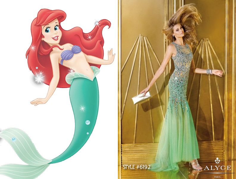 Disney Princess Inspired Prom Dresses | Prom, Ariel and Disney ...