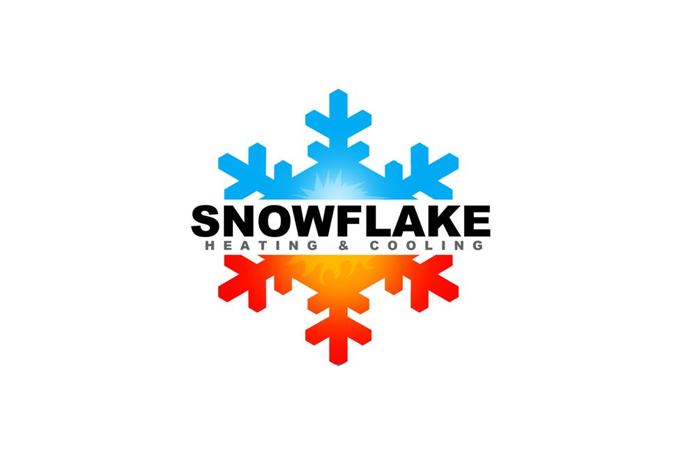 Snowflake Heating Free Business Card Design Business Card