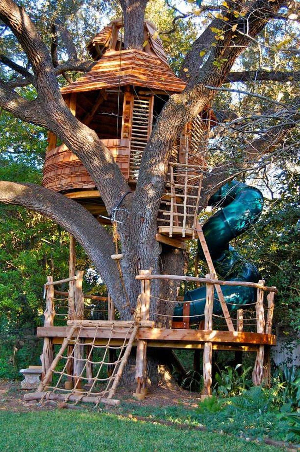 Wonderful Tree House You Ll Love It 19 Tree House Kids Tree House Diy Cool Tree Houses Backyard treehouse treehouse ideas