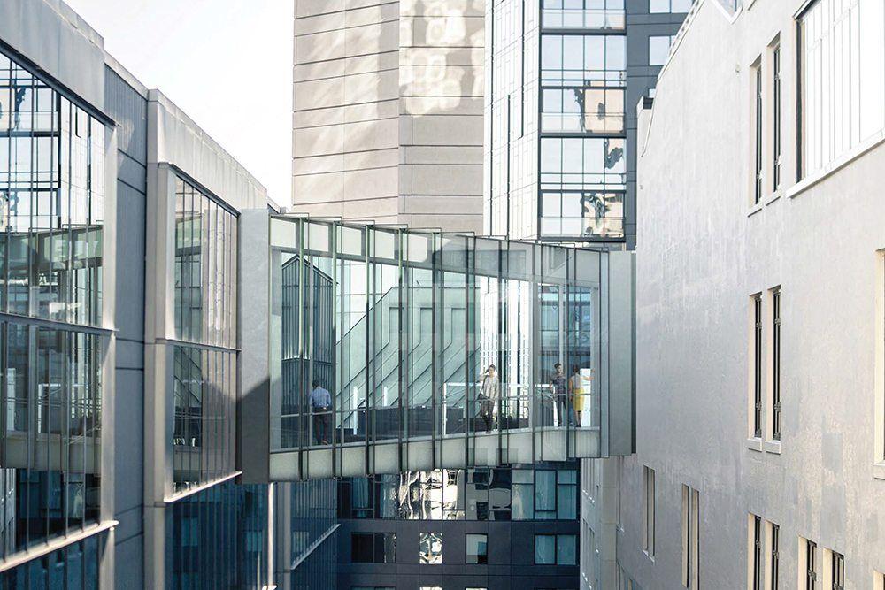 Image result for sky bridge between buildings   Facade   Sky