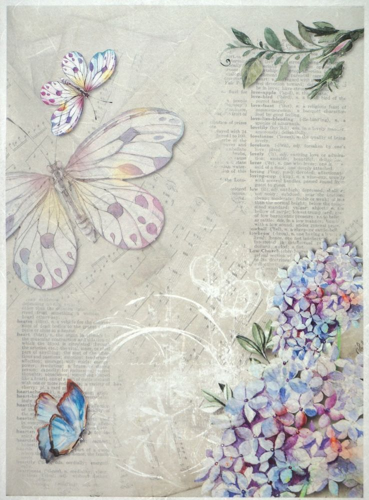 1 Decoupage /& 1 Backing Sheet 8 Design to choose from Cardmaking Arts /& Crafts