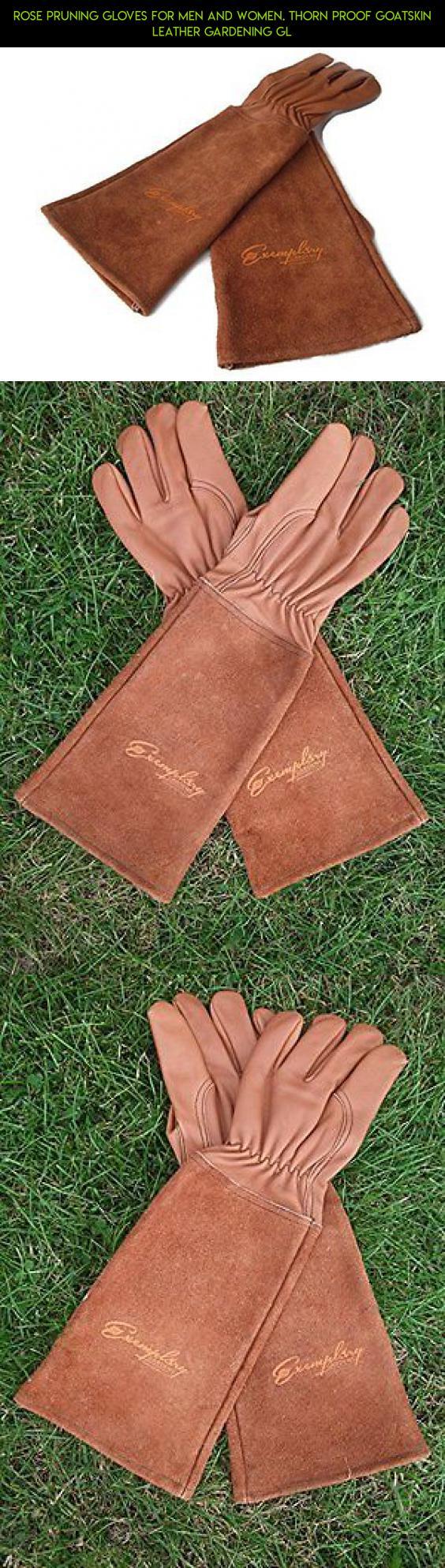 Rose Pruning Gloves For Men And Women. Thorn Proof Goatskin Leather  Gardening Gl #kit