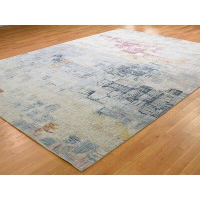 World Menagerie One Of A Kind Feld Hand Knotted Blue 8 10 X 12 Area Rug Blue Area Rugs Area Rugs Colorful Rugs