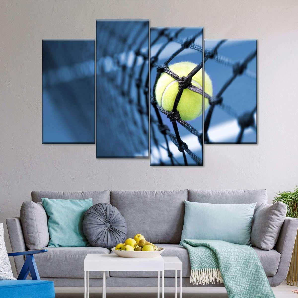 Tennis Net Multi Panel Canvas Wall Art In 2020 Canvas Wall Art Art Wall Art