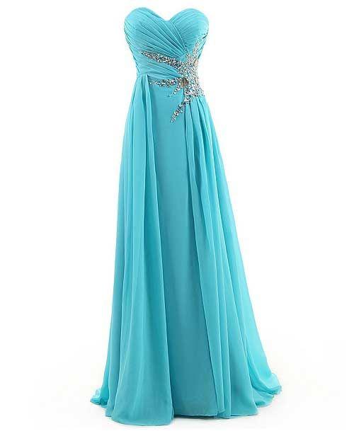 Under 100 Dollars Turquoise Blue Long Embellished Plus Size Formal