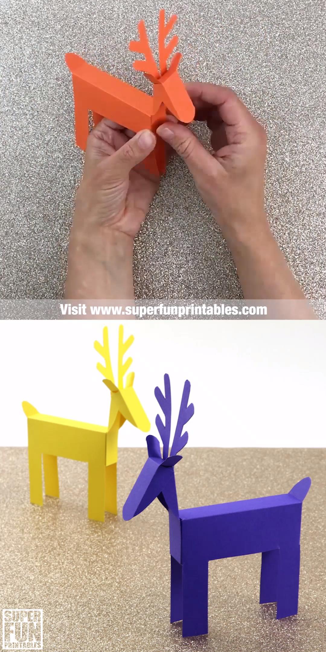 Paper reindeer craft