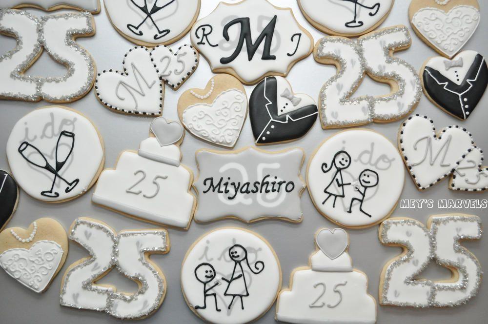 25th Anniversary Cookies