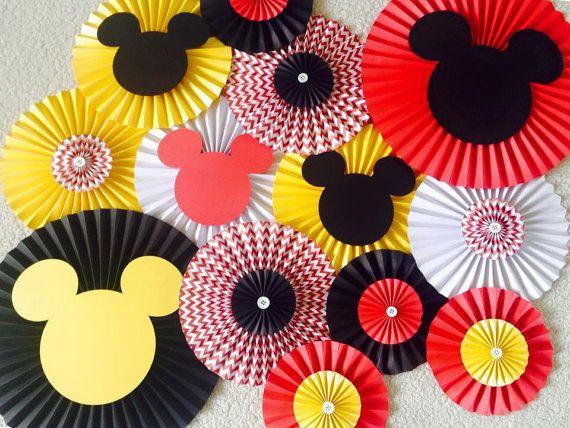 Mickey mouse papel tem tico ventilador contexto por for Decoracion con abanicos