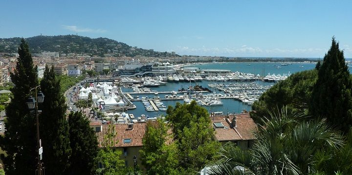 Harbor, View from Le Suquet, Cannes, French Riviera, France, Europe