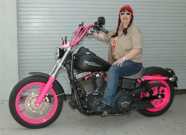 A Super Hot Pink Dyna Street Bob Learn More About The Owner And Check Out Photos Of Other Pink Motorcycles By Clic Pink Motorcycle Motorcycle Harley Davidson