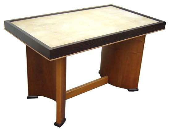 French Art Deco Parchment Top Coffee Table Table Art Deco Coffee Table Art Deco