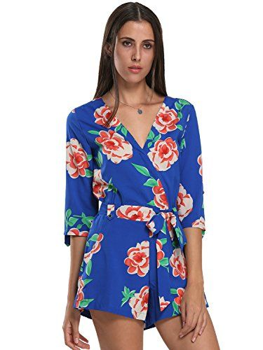 777e479670c Choies Women s Floral Print Long Sleeves Romper Playsuit Jumpsuit -- Check  out this great product.
