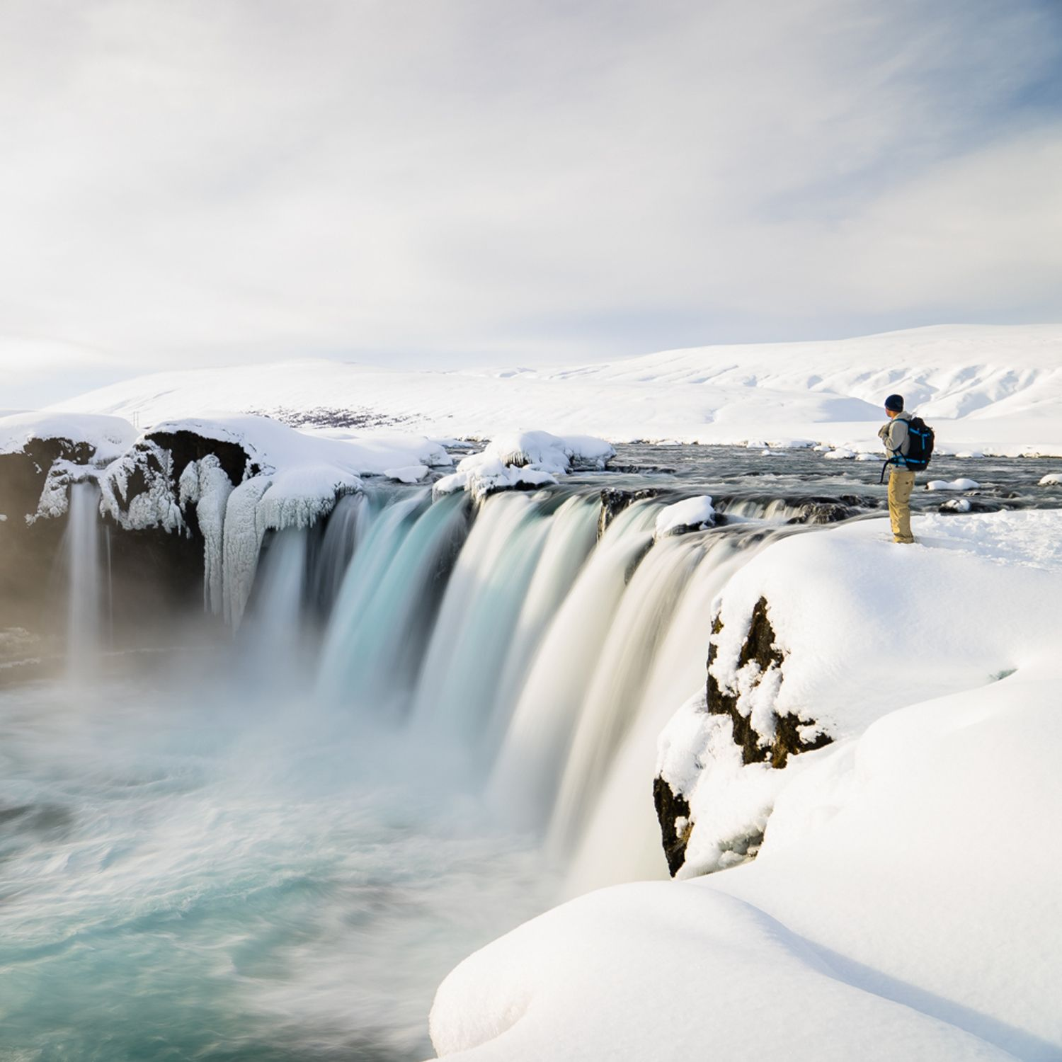 The falls drop more than 30 feet in places. Photo: Chris Burkard