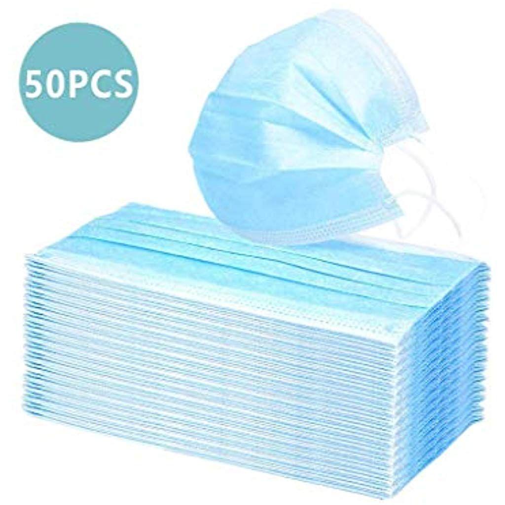 50pcs Mundschutz 3 Lagigatemschutzmaske Mundmaske Mundschutz