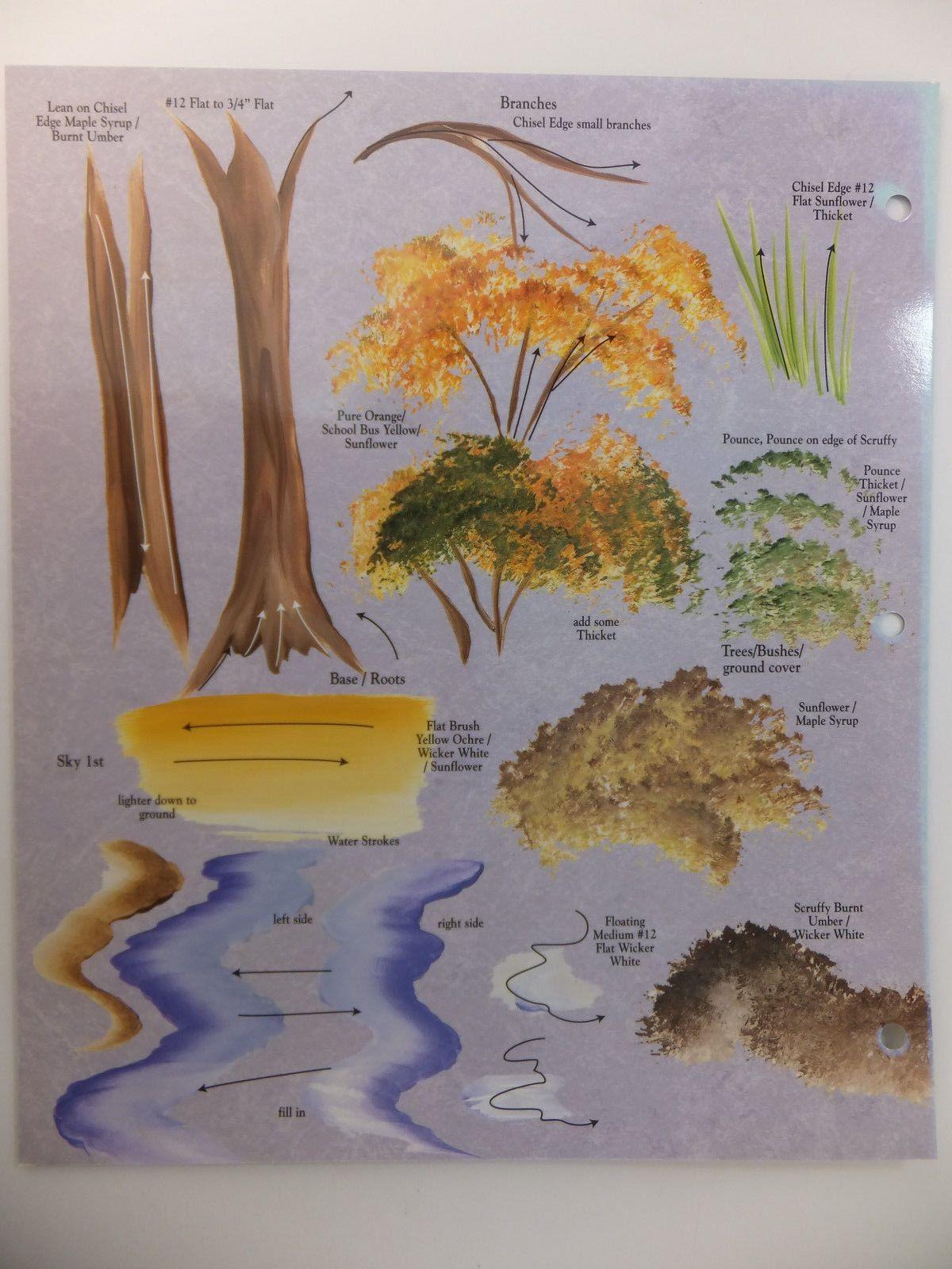 Donna Dewberry One Stroke Painting Landscape Amp Scenery Rtg Worksheet U Pick En