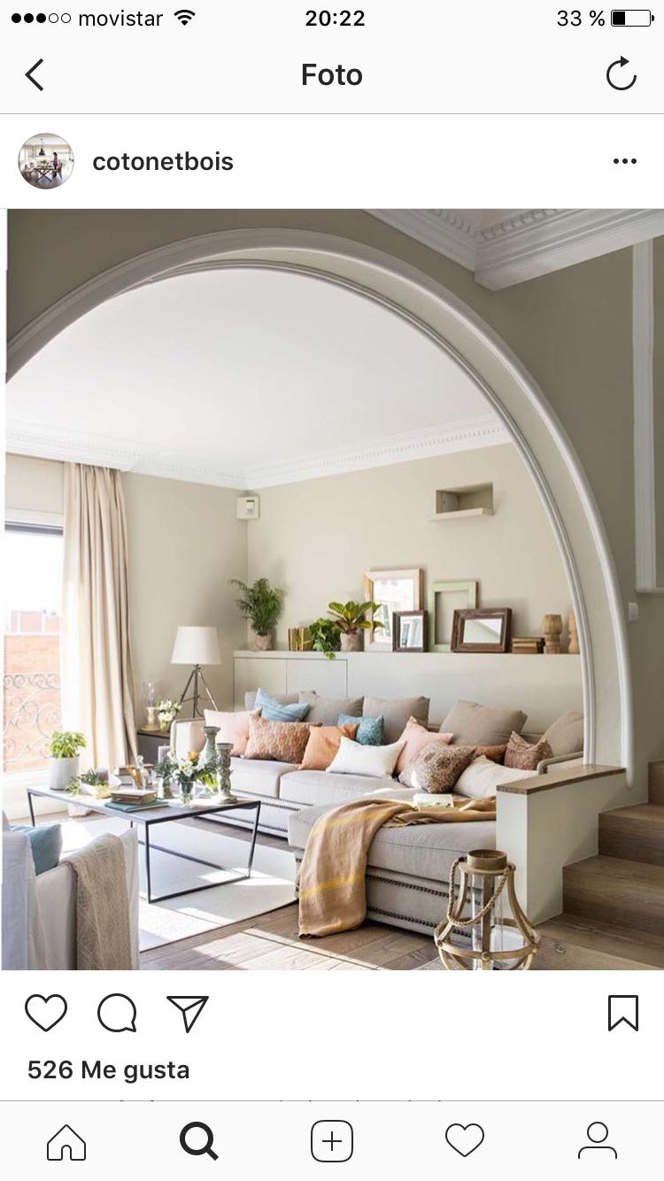 Idea para habitaciones sala de estar sencillas y bonitas for Idea de separacion cocina sala de estar
