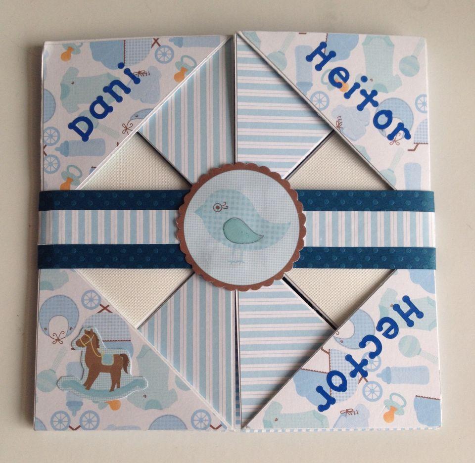 Cartão nascimento - boy/ menino