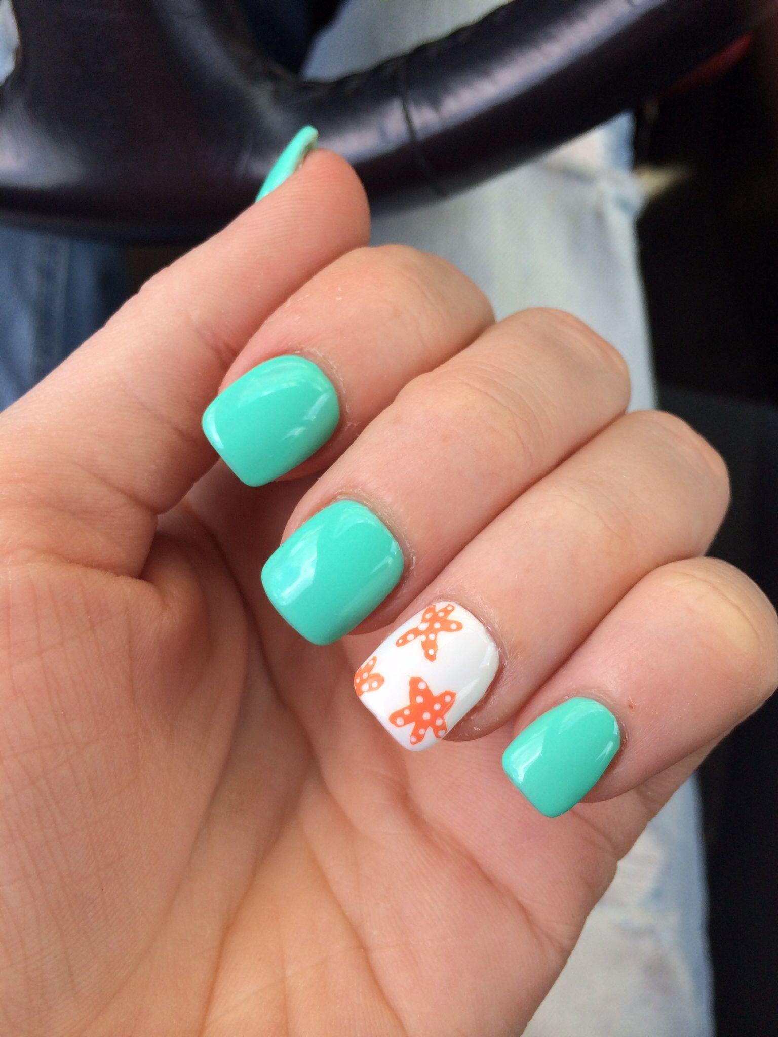 Cute Nail Designs For Spring Break My beach nails!...