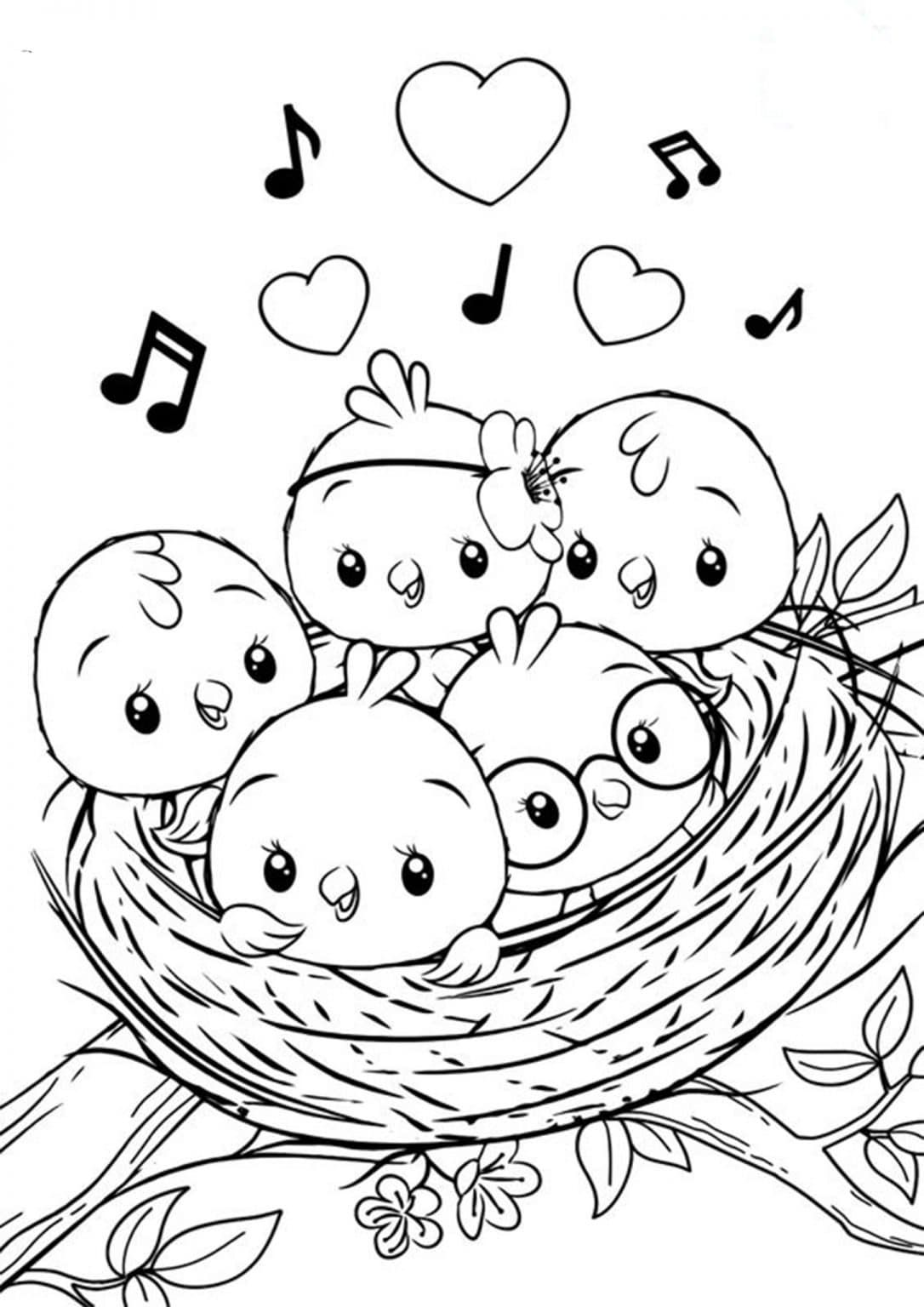 Free Easy To Print Bird Coloring Pages Bird Coloring Pages Cute Coloring Pages Coloring Books