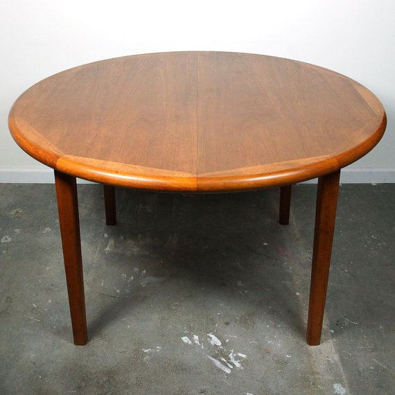 danish teak dining table laurits m larsen mid by spunkvtg rh pinterest com