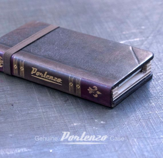 Handmade Leather iPhone 5S Old Book Case  (42) on Etsy, Sold