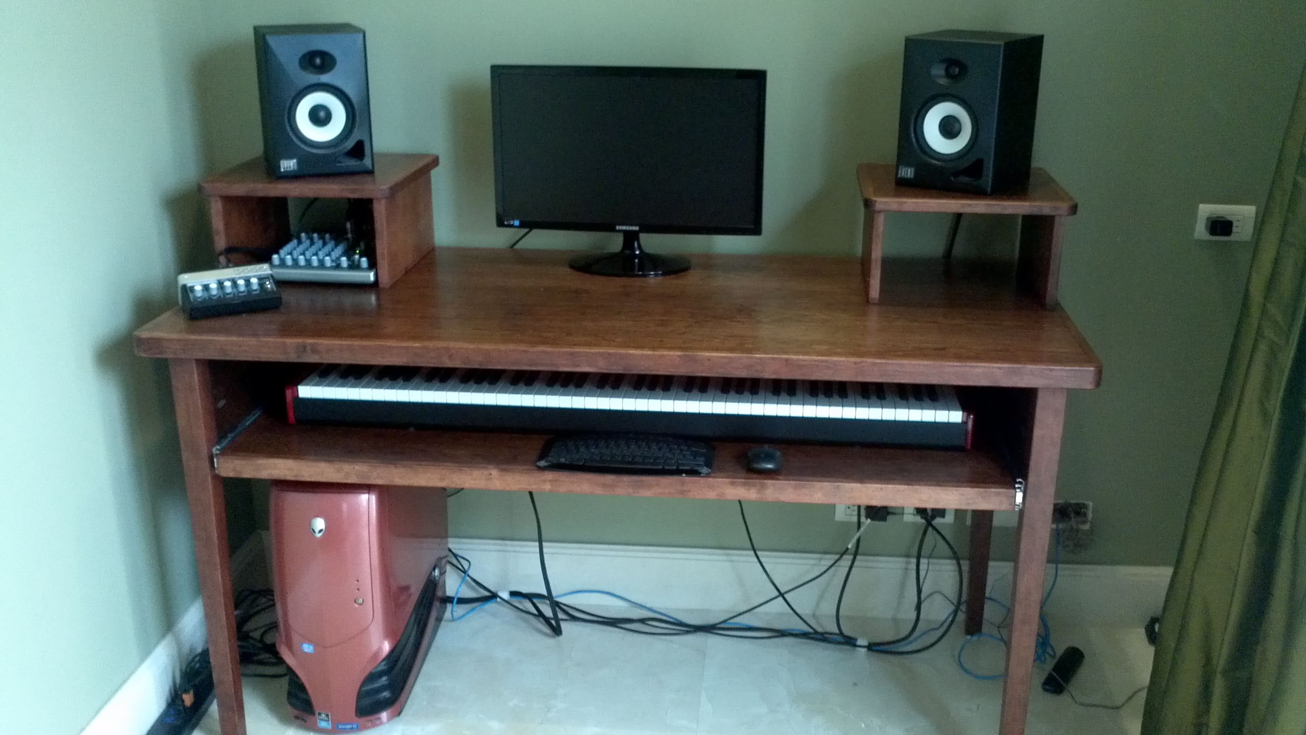 Basic Mixing Desk Home Studio Desk Home Studio Setup Studio Desk