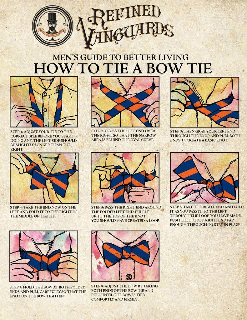 how to tie a bowtie + WAHOOWA!