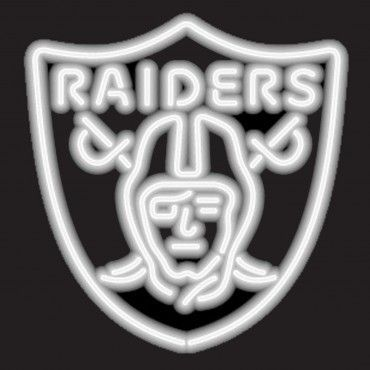 """The Oakland Raiders Neon Sign is commercial quality with neon tubes that feature an amazing 30,000 hour burn life!  The Raiders neon sigh is fantastic for Raiders Fan Caves and Game Rooms and measures approx. 22"""" x 22""""."""