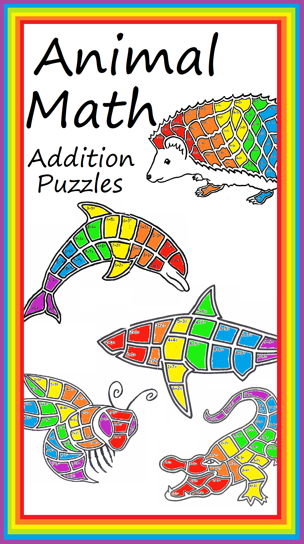 Dolphin Math Addition Page Mascot Worksheet Stem Steam