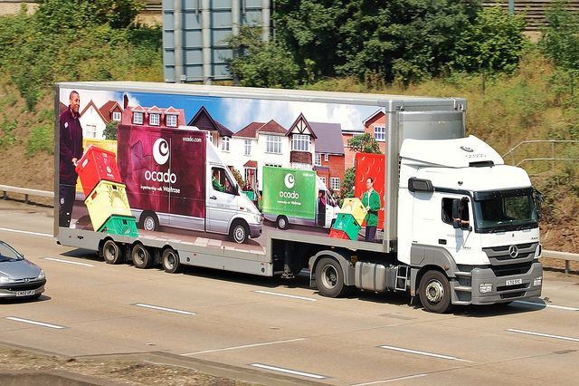 I Am The Ocado Man Mercedes Truck Trucks Design