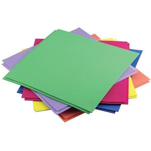 Lotus Cartridge Sheet — Colored cartridge sheets for creating different shapes, pictures, drawings etc.
