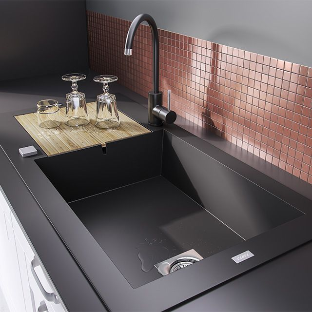 vier encastrer r sine noir maestro 1 bac castorama kitchens pinterest. Black Bedroom Furniture Sets. Home Design Ideas