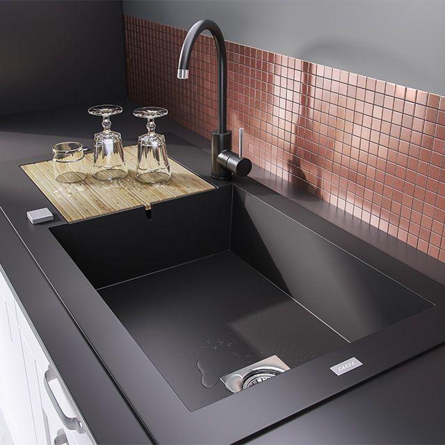 vier encastrer r sine noir maestro 1 bac castorama. Black Bedroom Furniture Sets. Home Design Ideas