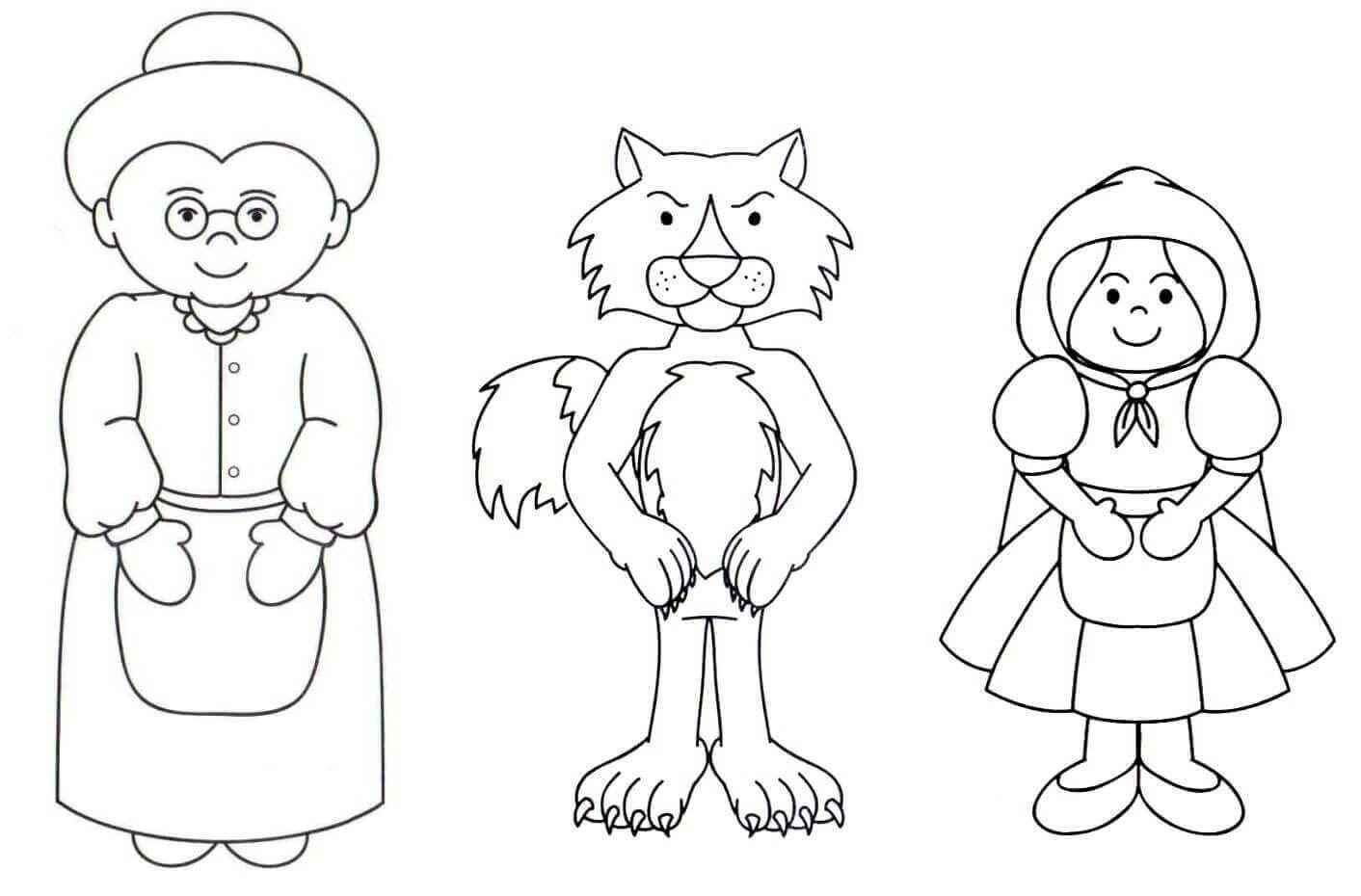 Manualidades Caperucita Y El Lobo Buscar Con Google Caperucita Roja Dibujo Caperucita Roja Abuelita De Caperucita Roja