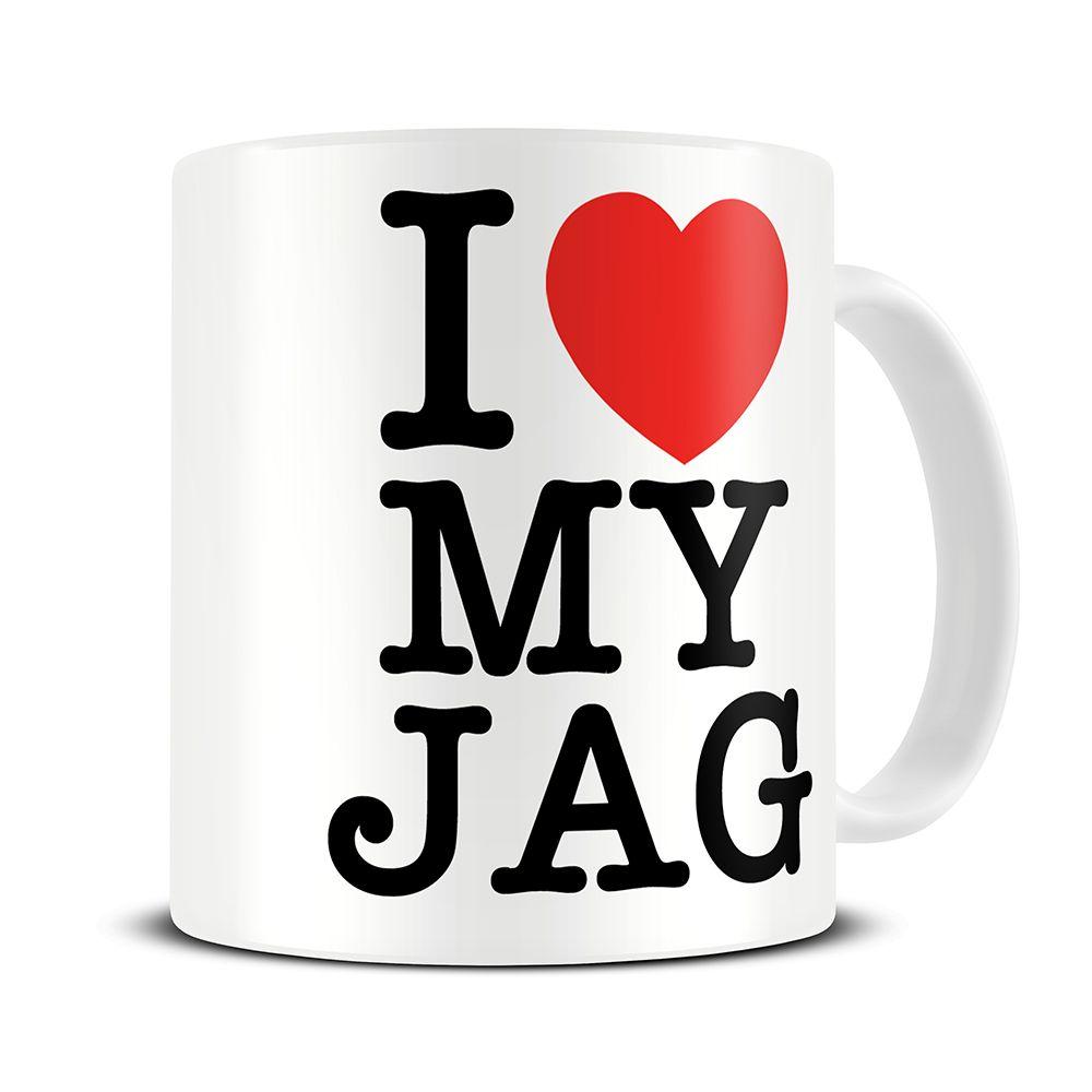 MG130 Magoo I Love My Jag Coffee Mug – jaguar car gifts