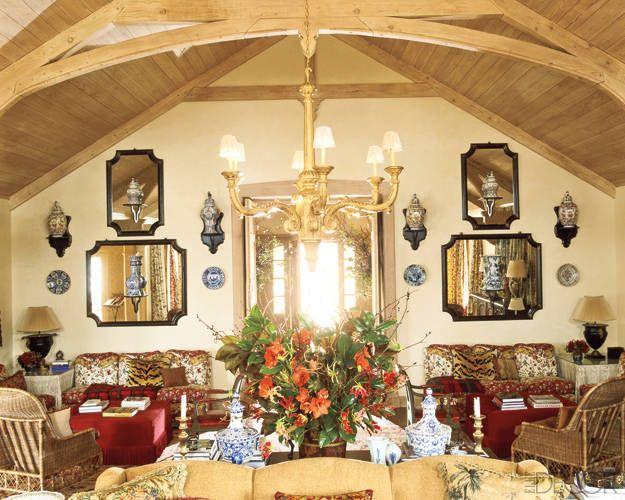 charlotte moss rooms | Charlotte Moss Ski House Decor - Ski Retreat Interior Design - ELLE ...