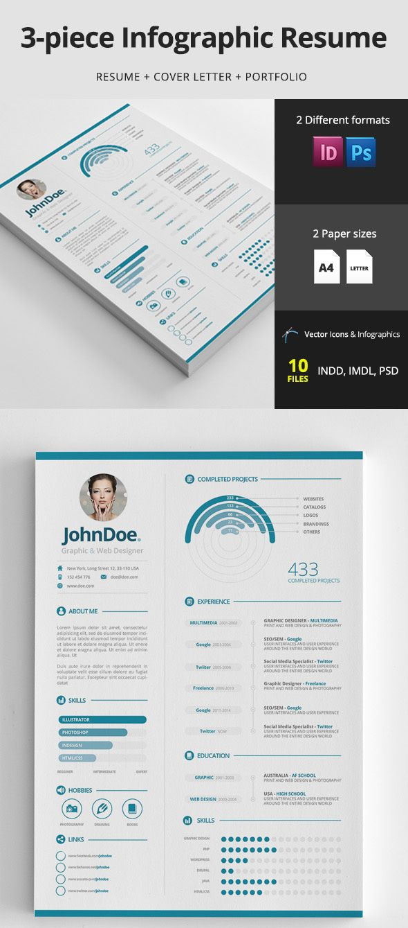 Infographic Resume Infographic Resume Design Template  Infographics  Pinterest