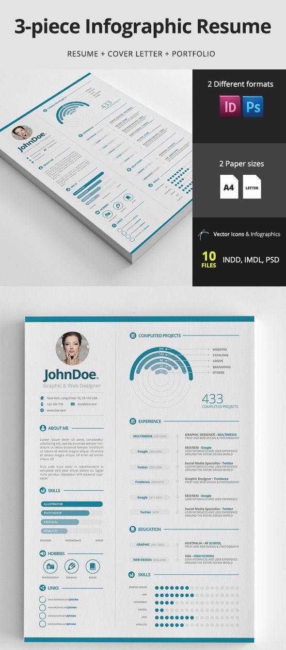 Infographic resume design template | Infographics | Pinterest ...