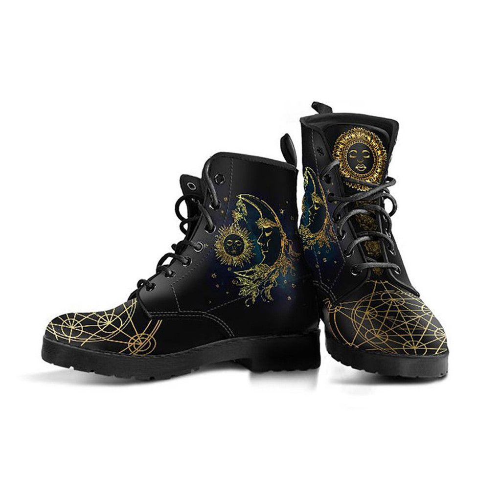 Gold Sun \u0026 Moon Boots | Vegan Leather