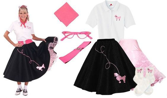Poodle Skirts And Skirt Costume Sets For Toddler Through Plus Size Pattern To Sew Your Own Party Sock Hop Or Halloween