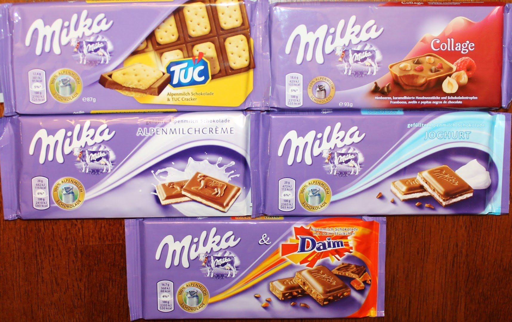 From Germany Milka Tuc Milka Collage Milka Alpen Milch