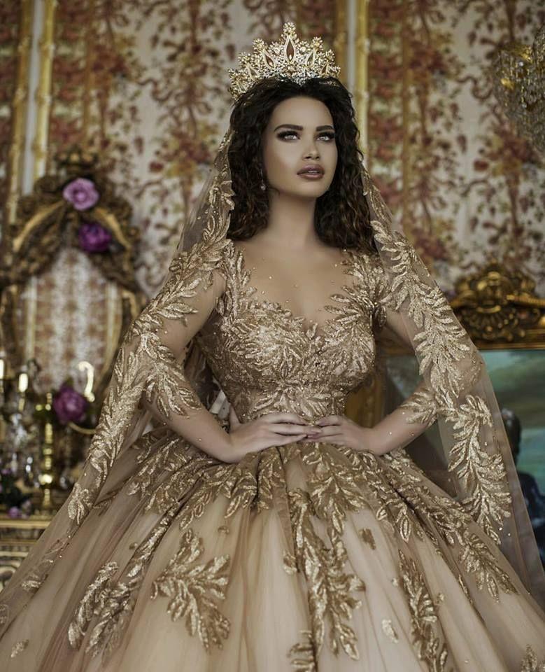 Beautiful Gold Wedding Dresses: ριитєяєѕт @IIIannaIII ...Beautiful. ..Wedding Gown