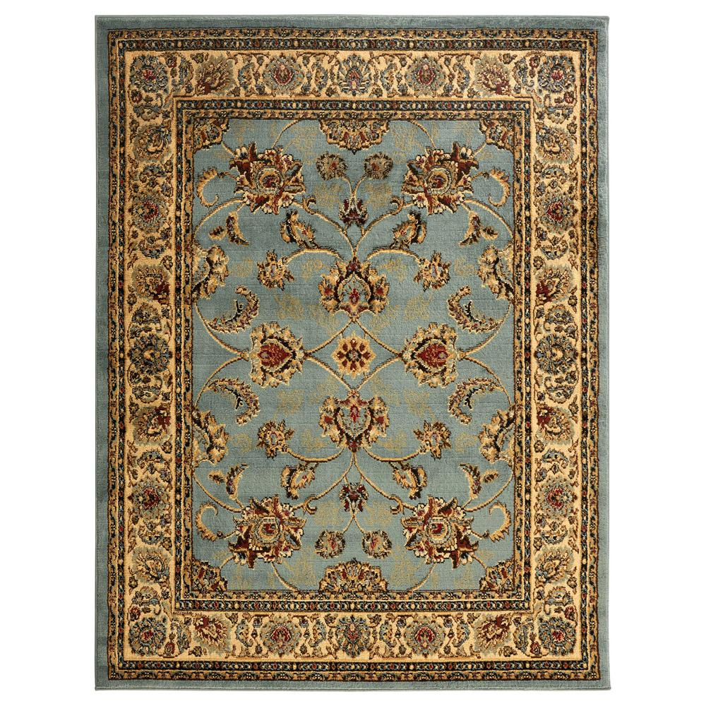Sweet Home Stores King Collection Mahal Oriental Seafoam 8 Ft X 10 Ft Indoor Area Rug King1096 8x10 Area Rugs Colorful Rugs Rugs