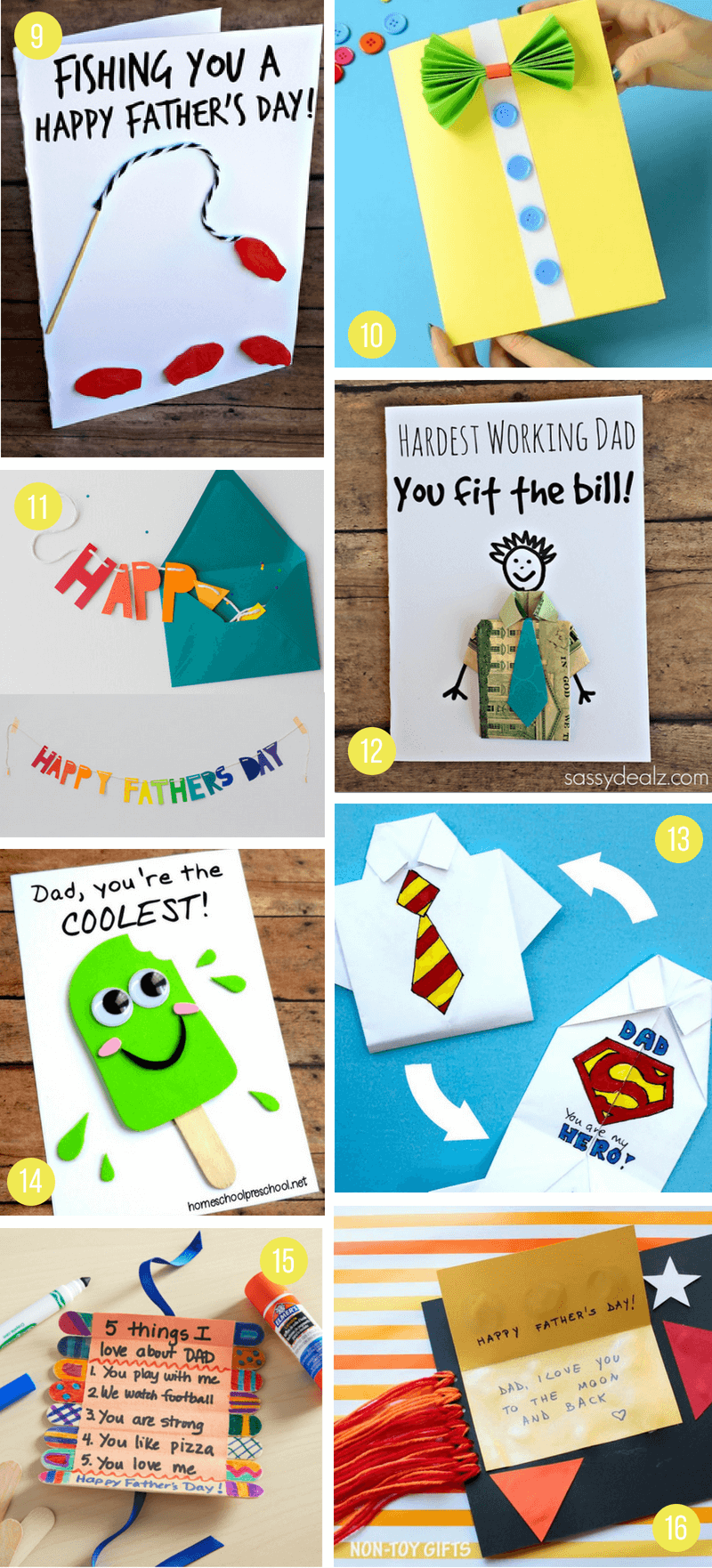 Diy Father S Day Gift Ideas From Kids Diy Father S Day Cards Birthday Cards For Mom Father S Day Diy