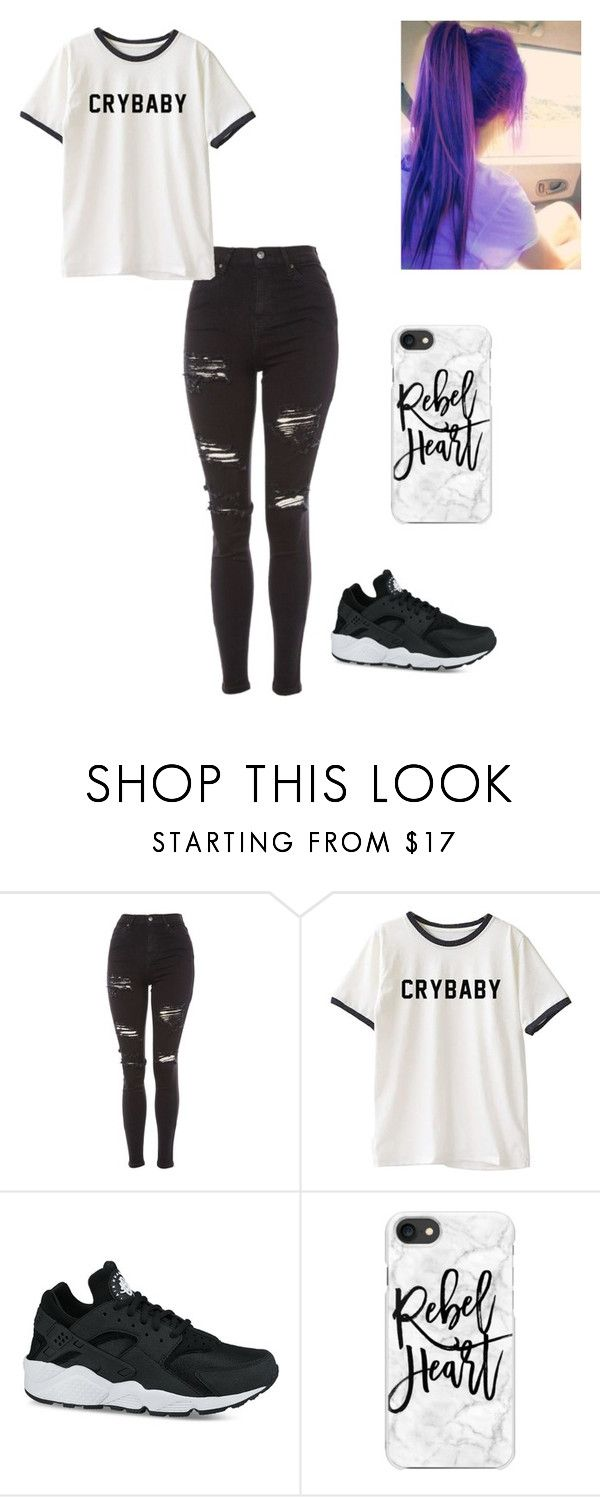 """Tell me"" by lucystrauss on Polyvore featuring Topshop, NIKE and Casetify"
