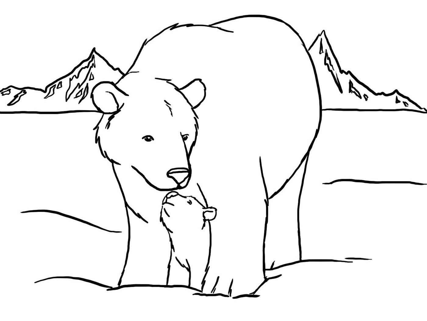Download And Print Cute Polar Bear Color Pages To Print Polar Bear Coloring Page Polar Bear Color Pictures Of Polar Bears