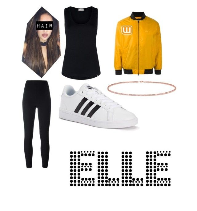"""Writer's Galore Outfit"" by geekyanddeath on Polyvore featuring adidas Originals, Hanro, adidas, Anne Sisteron and Stussy"